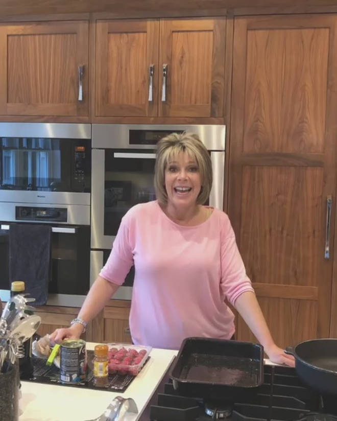 Ruth Langsford in her kitchen