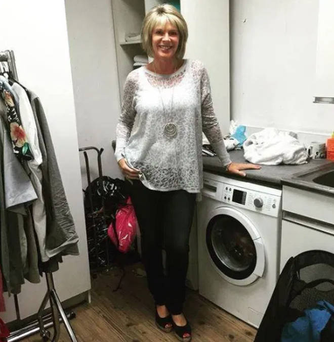 Ruth Langsford in her laundry room