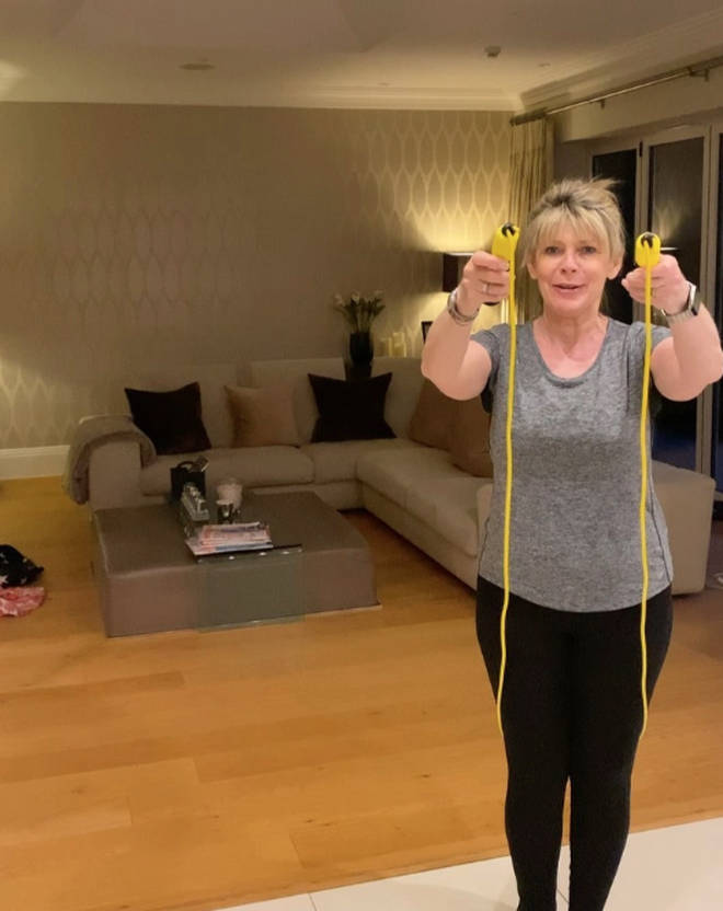 Ruth Langsford in her living room