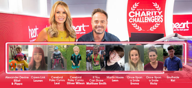 Meet Jamie and Amanda's very special charity challengers