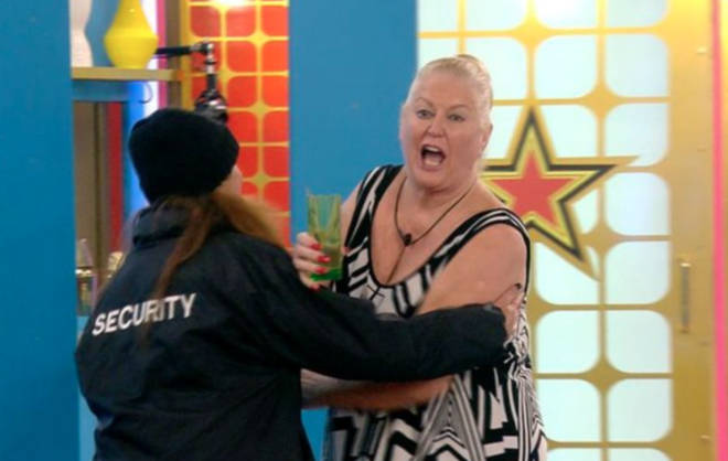 Kim Woodburn was removed from the Celebrity Big Brother house