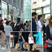 Hundreds of people queued outside Primark on Monday morning