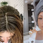 Stacey shared her dyeing journey with fans