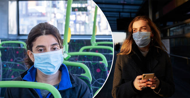 Face coverings are mandatory on public transport from today (June 15) (stock images)