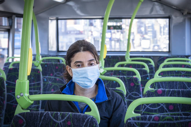 Everyone in England must wear a face covering if using public transport from today (stock image)