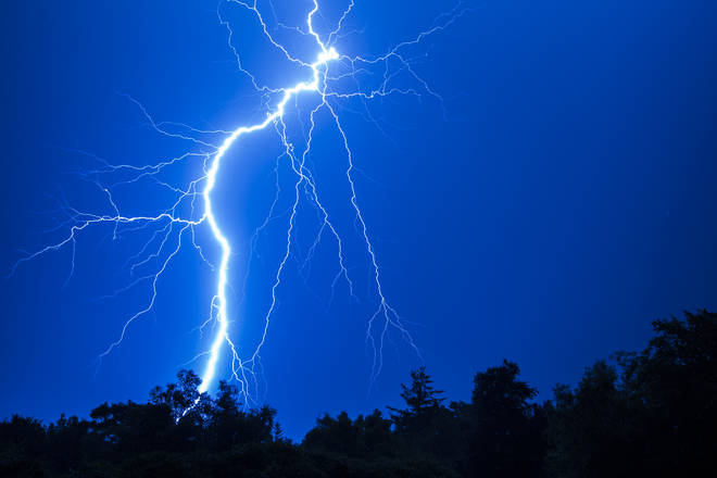 Thunderstorms will hit parts of the UK this week (stock image)