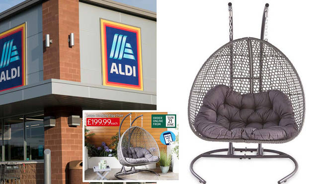 The Aldi hanging egg chair is back!