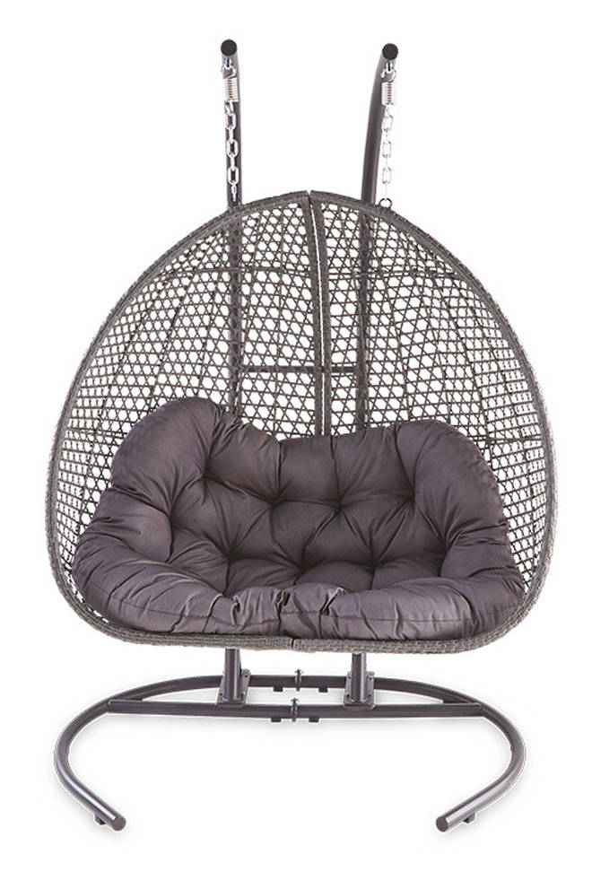 The larger version of the hanging egg chair will be back online this weekend