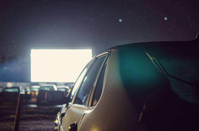 Drive-in cinemas are allowed under UK lockdown laws (stock image)