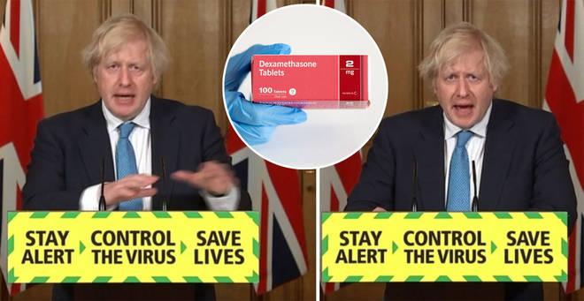 Boris Johnson has praised the work around Dexamethasone