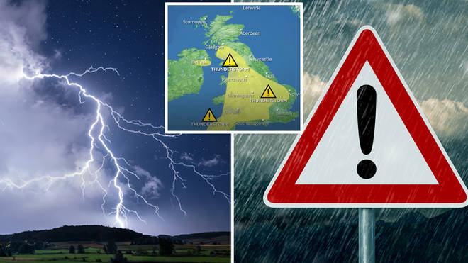 The next couple of days are set to be wet and thundery