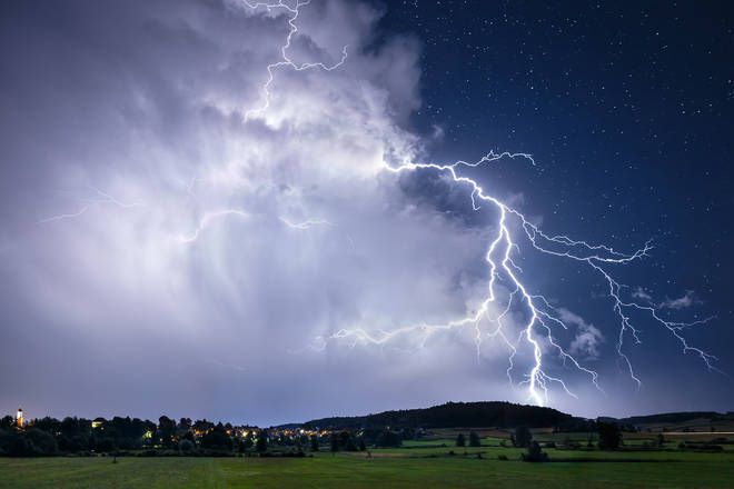 For the North West, the Met Office have issued a 17 hour thunderstorm warning for Wednesday