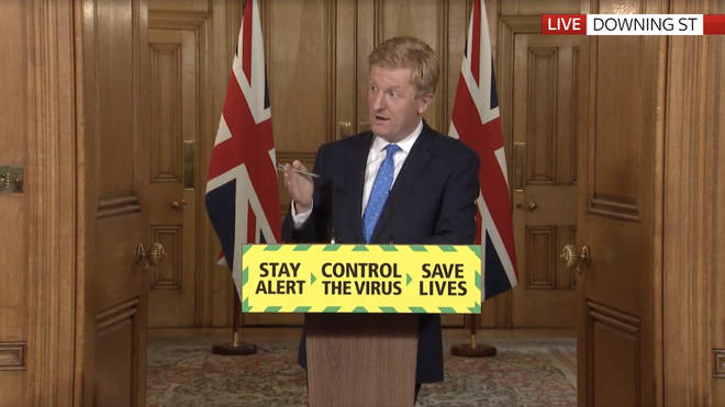 Tonight's briefing saw the Culture Secretary Oliver Dowden address the issue