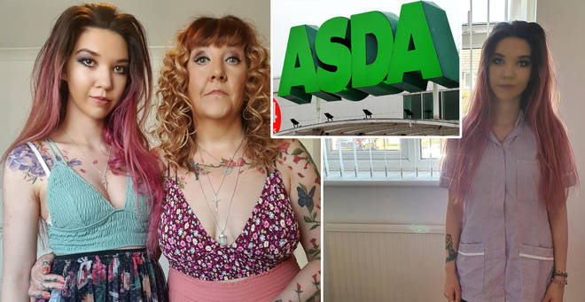 The mum and daughter were told their outfits were 'inappropriate'