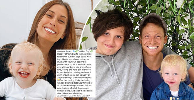 Stacey Solomon has shared a photo of Joe Swash and his son