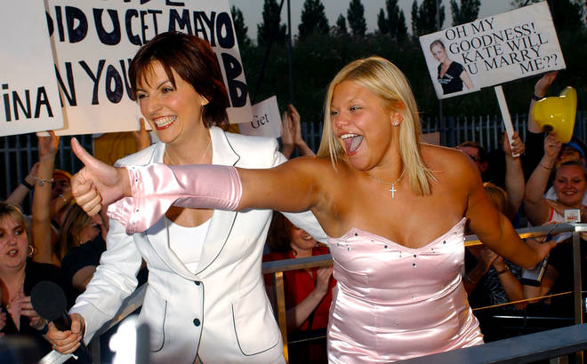 Jade pictured with Davina McCall in 2002