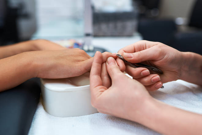 It is not yet known when nail salons will be able to reopen (stock image)