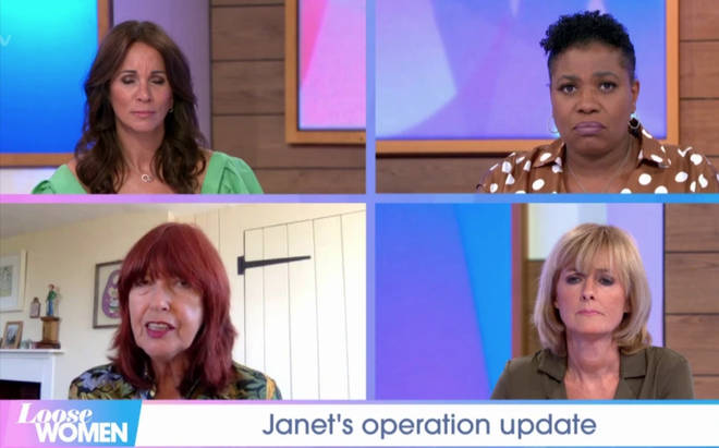 Janet made the announcement on yesterday's Loose Women