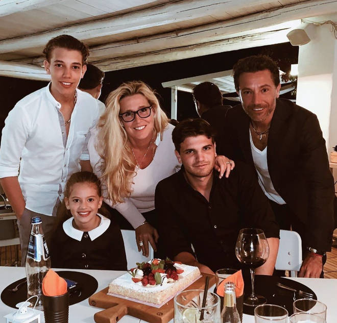 Gino D'Acampo posed with his wife, Jessica, and their three children