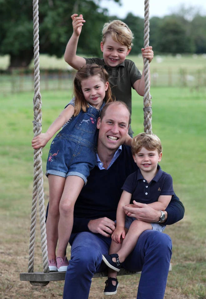 Kate and William shared a new picture of the family to celebrate Father's Day