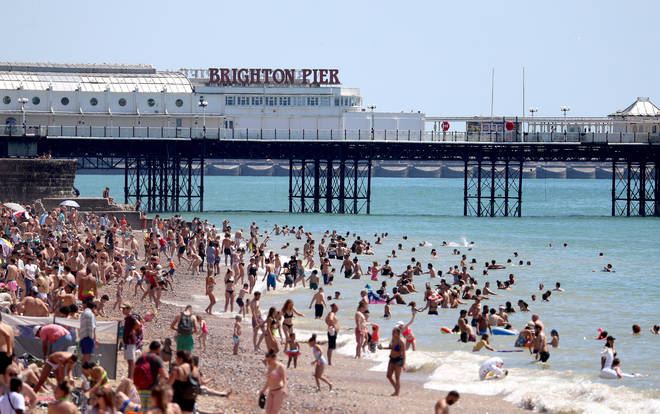 Brighton beach was packed out