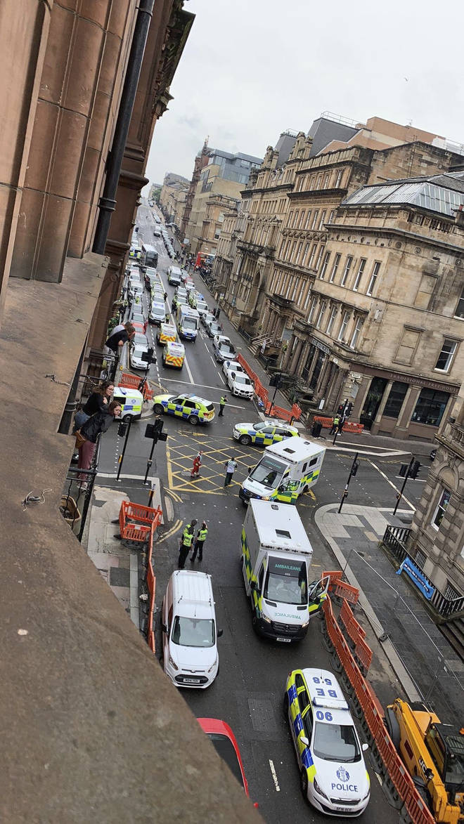 A serious incident has been reported in Glasgow city centre