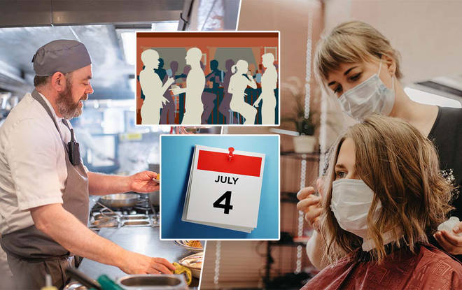 July 4 is the date many businesses are set to reopen in England