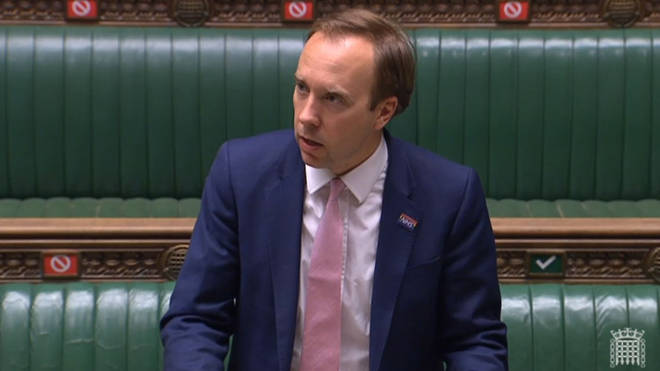 Matt Hancock made the announcement in the House of Commons