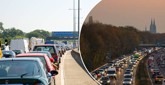 The RAC has warned of traffic jams this weekend (stock images)