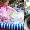 The hack could easily fill your paddling pool up with hot water (left: stock image)