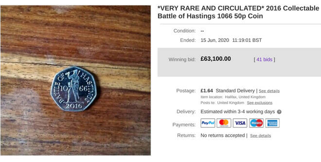 The bidding war for the coin was fierce