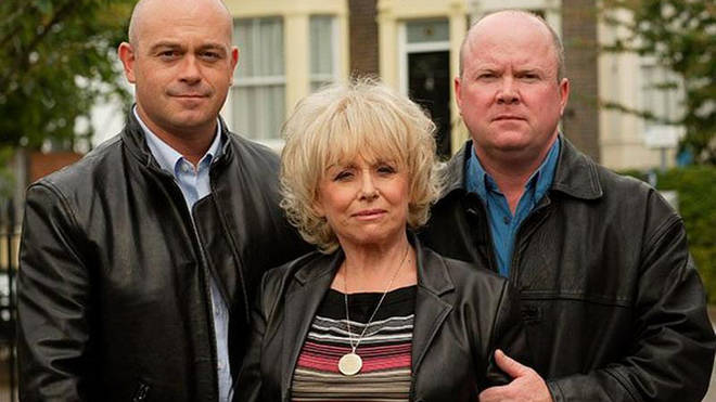 Ross Kemp and his onscreen family Barbara Windsor and Steve McFadden