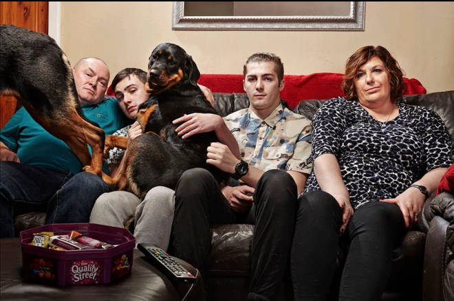 Shaun appears on Gogglebox with his family