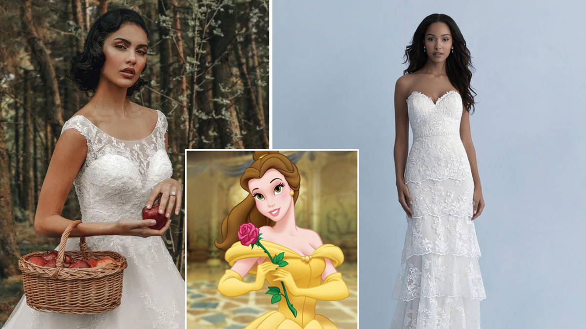 Disney Unveils Princess Inspired Wedding Dress Collection Heart
