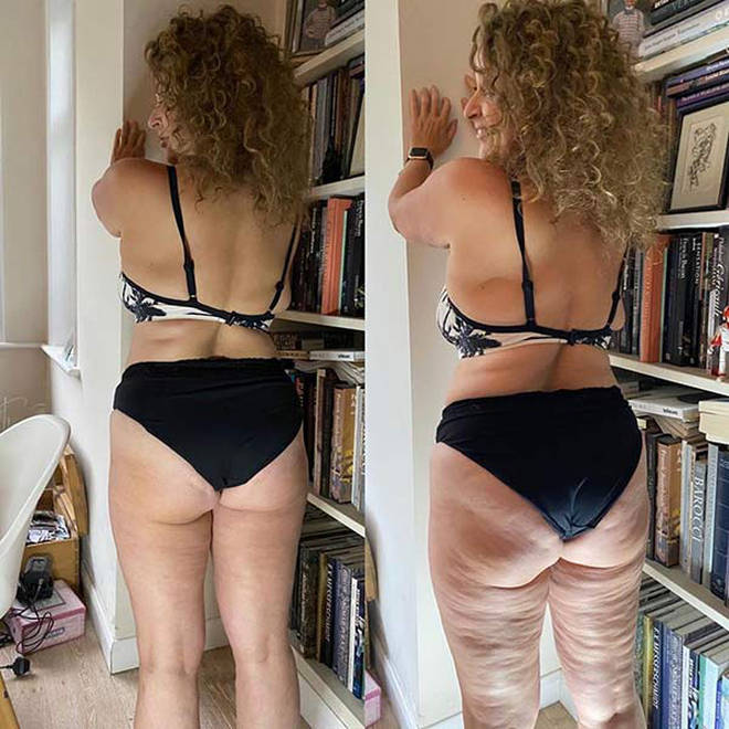 Nadia dared to bare in her new post and looks fab