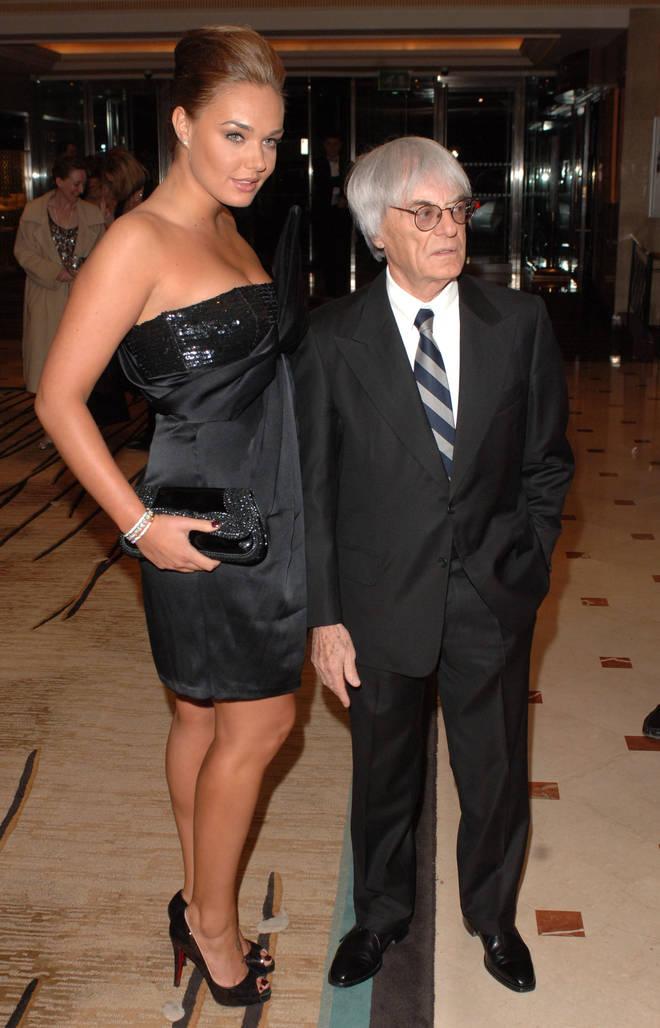 Bernie Ecclestone and his daughter Tamara