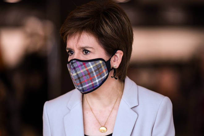 Nicola Sturgeon announced today the public will be told to wear face coverings in shops