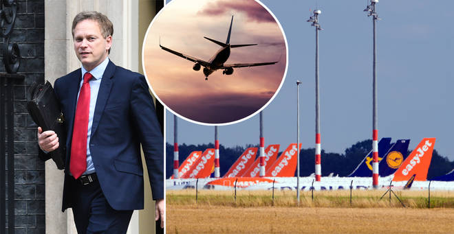 Grant Shapps has revealed that France and Spain are among the 'air bridge' countries
