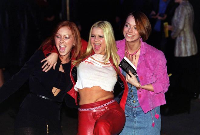 Kerry Katona in 2000 with the Atomic Kitten girls