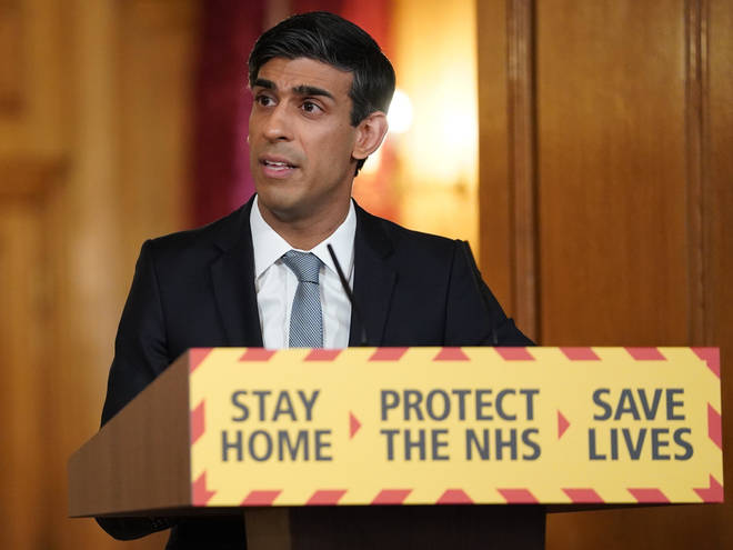 Rishi Sunak at the daily government briefing