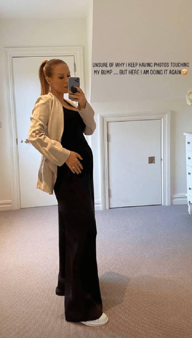 Kate Ferdinand has showed off her pregnancy bump