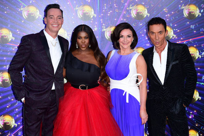 Shirley with her Strictly co-stars