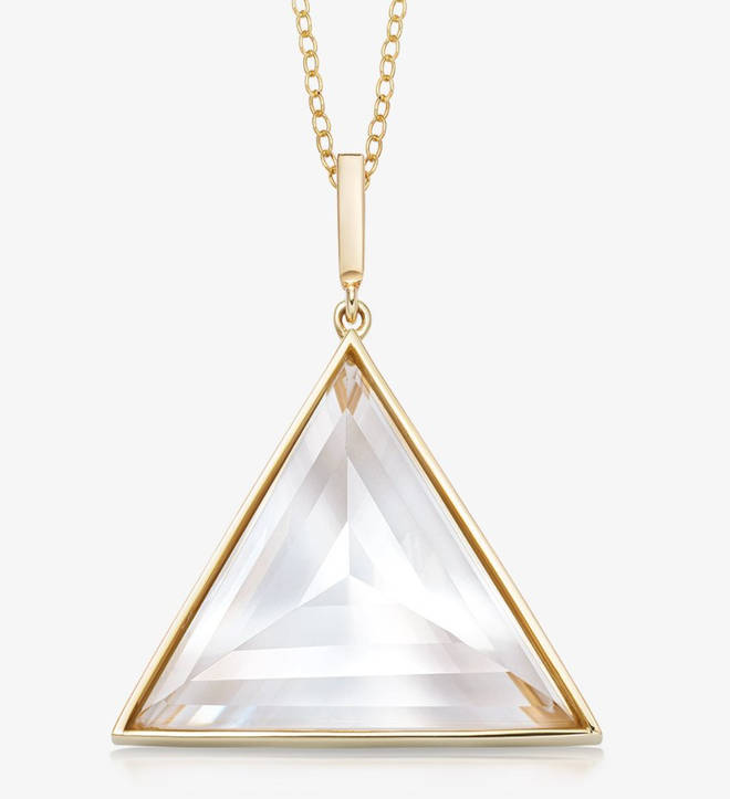 """The Rock and Raw Jewellery clear quartz necklace is """"the most protective of all stones"""""""