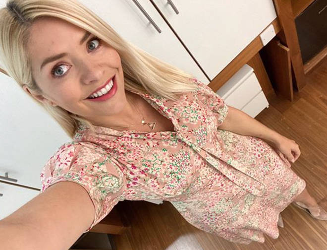 Holly Willoughby wore the new necklace on Monday's show with a floral dress