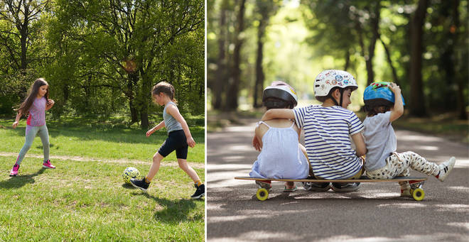 What are the social distancing rules for children in Scotland? (stock images)