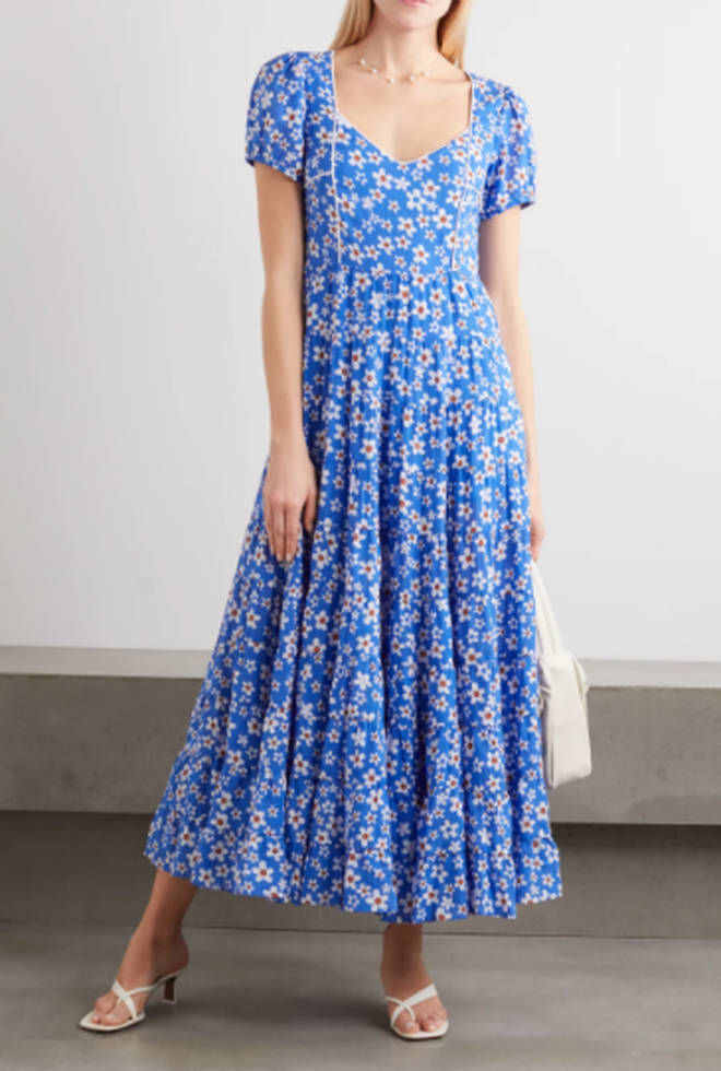 Tamara tiered floral-print dress
