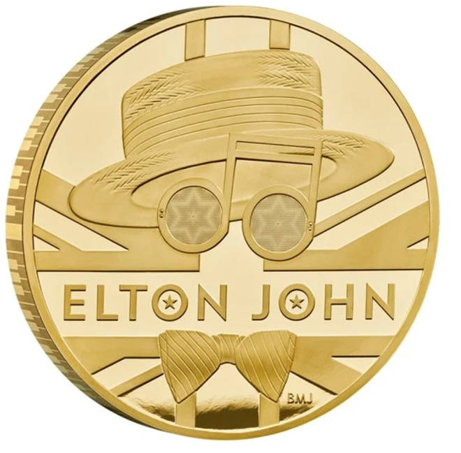 The Elton John kilo gold proof coin retails at an eye-watering £68,865