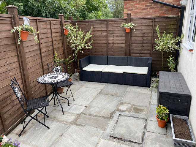 Her garden was immediately a lot nicer to spend time in after adding the plants and a new table and chairs