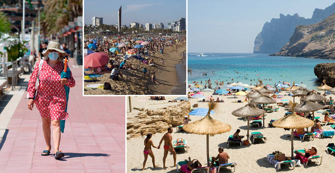 Some Spanish beaches were closed over the weekend (stock images)