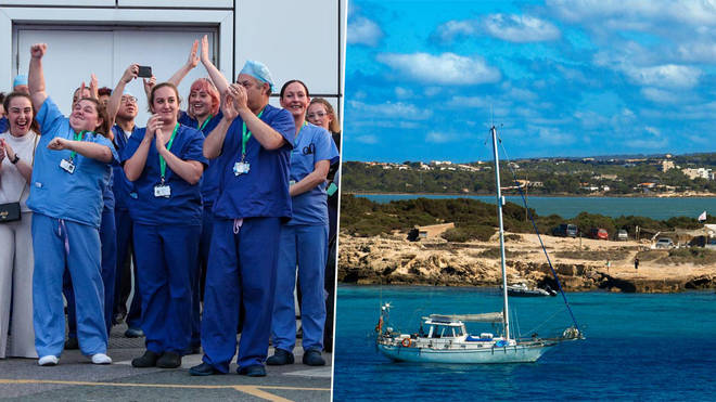 NHS workers are being offered a free holiday to Ibiza